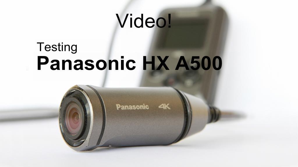 Panasonic HX A500 - test