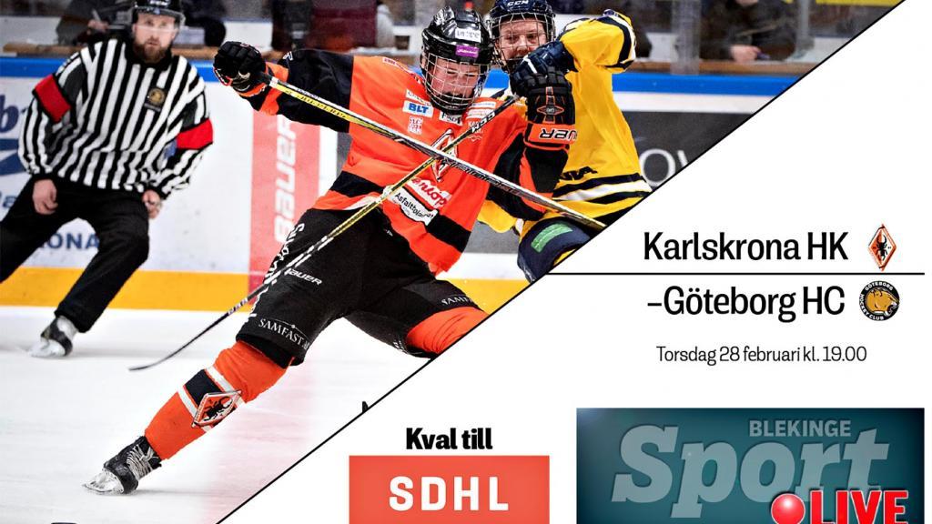 LIVE: Karlskrona HK–Göteborg HC