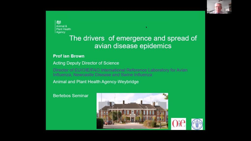Ian Brown - The Drivers of Emergence and Spread of Avian Disease Epidemics