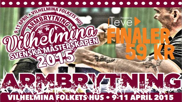 SM Armbrytning Final-sändning Vilhelmina 2015
