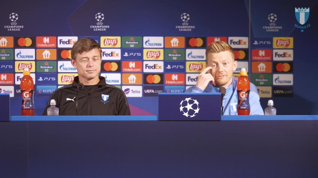 Presskonferens inför hemmamatchen mot Juventus