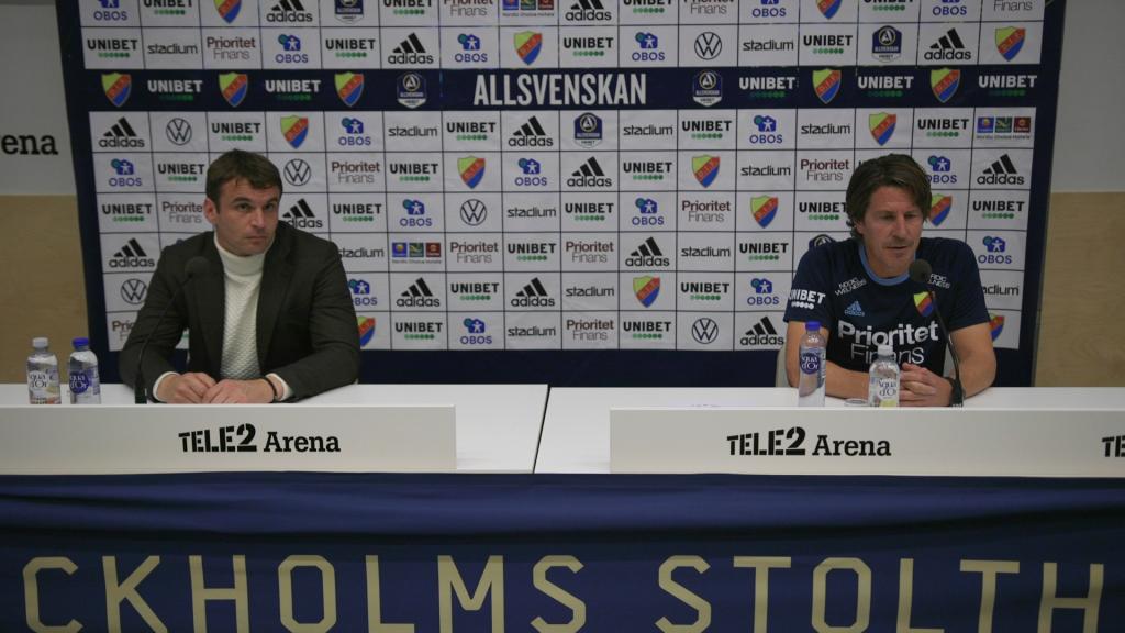 Presskonferensen efter Djurgården Hammarby