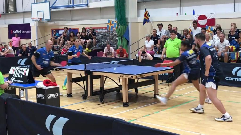 Öspel bordtennisfinal mixed dubbel