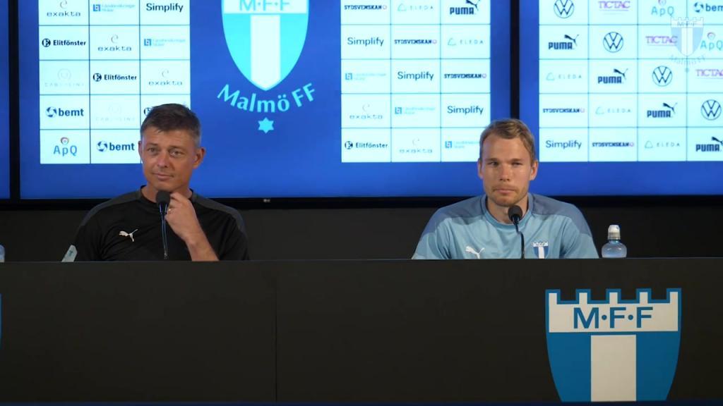 Presskonferens inför Malmö FF – Riga FC