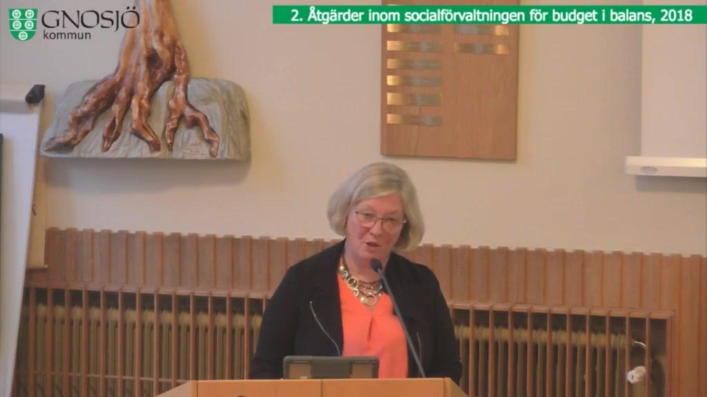 27 september 2018 - 18:30 Gnosjö kommun Kommunfullmäktige - 27 Sep 18:22 - 18:56