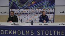 Presskonferensen efter Djurgården - AIK