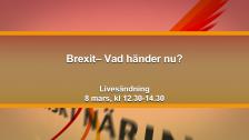 Brexit– Vad händer nu?