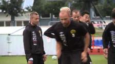 Inför IFK-IFE Mikkel Beckmann och Johan Larsson