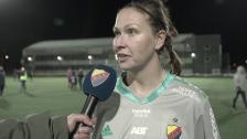Gudbjörg Gunnarsdottir efter 0-0 mot Umeå