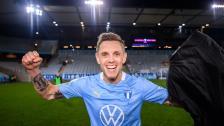 Tårfylld Sören Rieks efter sitt första SM-guld med Malmö FF