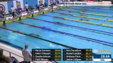 18 100m Bröstsim Herrar B-Final SM/JSM 25m 2015