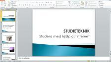 Studera med hjälp av internet (persiska)