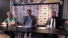 Presskonferensen efter förlusten i Örebro