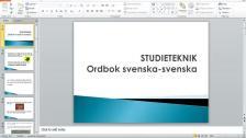 Ordbok svenska-svenska (persiska)