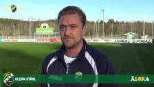 Glenn Ståhl inför sista träningsmatchen inför seriepremiären......