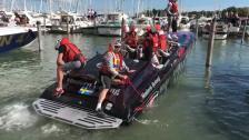 210717 Poker run båtar kommer till Östra hamnen