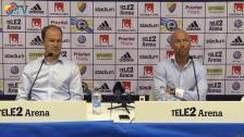 Presskonferensen efter DIF-Gefle