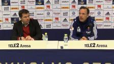 Presskonferensen efter DIF - IFK Norrköping