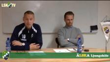 Presskonferens efter Ljungskile SK - IK Frej Täby