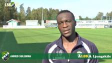 Ahmed Suleiman, matchens LSK-profil mot Syrianska FC