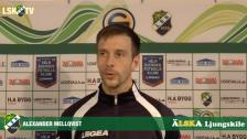 Alexander Mellqvist inför avslutande matchen i Svenska Cupen mot Syrianska FC