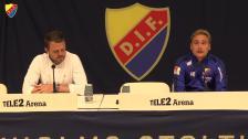 Presskonferensen efter DIF - Elfsborg