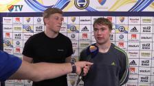 Simon och Emil på besök på Tele2 Arena