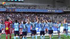 Glädjescener efter segern mot AFC