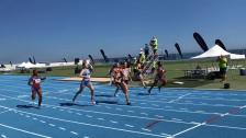 Sara Wiss 100m guldlopp öspelen på Gibraltar