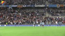 - Fantastiskt att höra fansen sjunga efter matchen