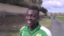 Joseph om lägret, nya tränaren och sina nya lagkamrater från Ghana