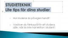 Lite tips för dina studier - på tigrinja