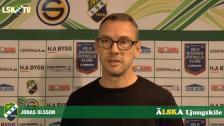 Intervju med Jonas Olsson inför träningsmatchen mot Kvik Halden
