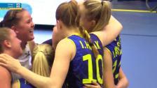Sverige vänder 21-23 till 25-23 i tredje set