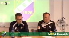 Presskonferens efter Ljungskile SK - Åtvidabergs FF