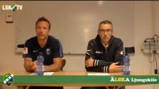 Presskonferens efter Ljungskile - IK Sirius