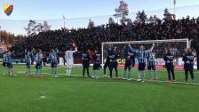 Firande efter segern i Östersund