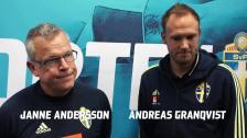 Andersson och Granqvist dagen innan VM-kvalpremiären