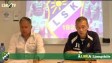 Presskonferens efter Ljungskile SK - Halmstads BK
