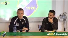 Presskonferens efter Ljungskile SK - Dalkurd FF