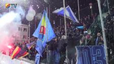 Glädjescener och snöbollskrig från Sundsvall