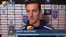 Simon och Haris var inte så nöjda efter matchen mot Åtvidaberg