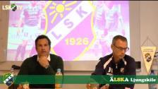 Presskonferens efter Ljungskile SK - GAIS - intervju med Hannes Stiller