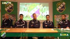 Presskonferens, tre spelare presenterades plus förstärkning av vår organisation